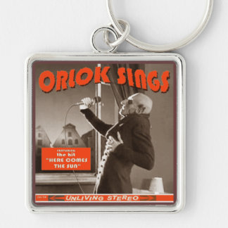 Halloween swag: Orlok Sings! Silver-Colored Square Key Ring