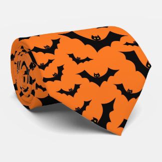 Halloween Swarm Of Flying Bats Tie