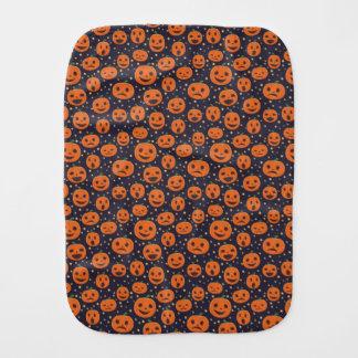 Halloween Sweet Pumpkin Pattern Jack-O-Lantern Burp Cloth