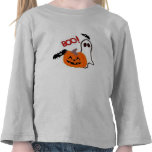 HALLOWEEN T SHIRT BOO KIDS TOP BLACK AND WHITE