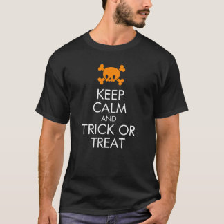 """Halloween T-Shirt: """"Keep Calm and Trick or Treat"""" T-Shirt"""