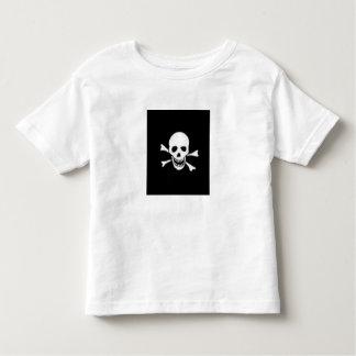 HALLOWEEN T SHIRT SKULL KIDS TOP BLACK AND WHITE
