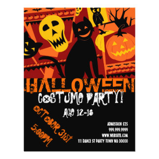 Halloween Teen Party Event Announcement  Flyer