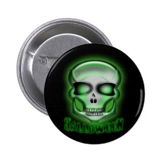 Halloween Terminator-like Zombie Skull  Button