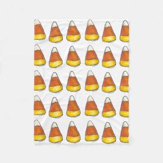 Halloween Thanksgiving Candy Corn Print Blanket