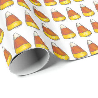 Halloween Thanksgiving Candy Corn Wrapping Paper