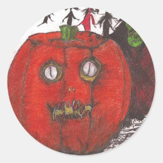 Halloween The Arrival Round Sticker