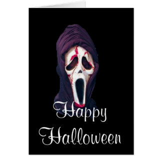 Halloween the scream scary greeting card