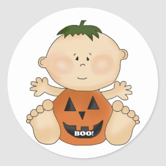 Halloween Theme BOO Baby Boy Fun Stickers