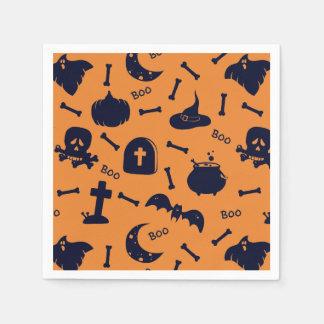 Halloween theme disposable serviettes