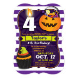 Halloween Theme Kids Birthday Costume Party 13 Cm X 18 Cm Invitation Card