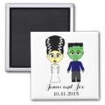 Halloween Theme Wedding Magnet