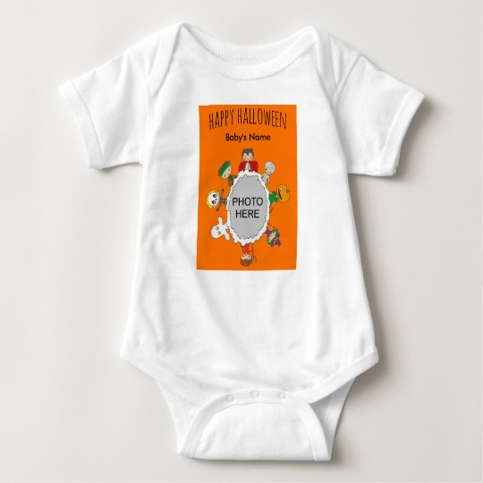 Halloween Themed Baby Bodysuit - Add Baby's Photo