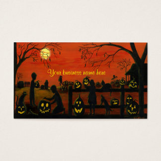 Halloween themed business cards