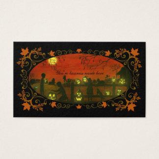 Halloween themed business cards Halloween Harvest