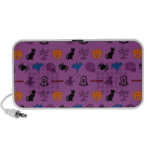 Halloween themed pattern notebook speakers