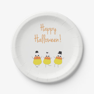 Halloween Themed Plates | Dancing Candy corn