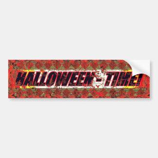 Halloween Time! 3 Worn Bumper Sticker