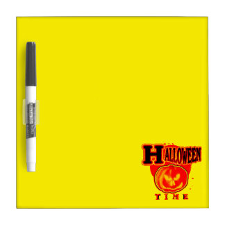 Halloween Time! Yellow Dry Erase Whiteboard