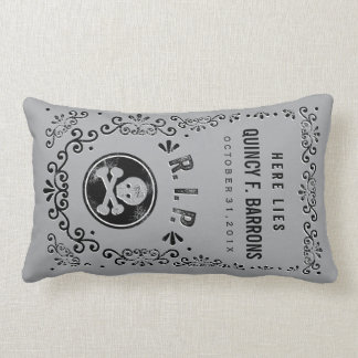 Halloween Tombstone Pillow RIP Pillow Custom Name