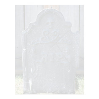 Halloween Tombstone RIP Skull Flyer Design
