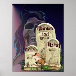 Halloween Tombstones  Poster