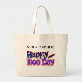 Halloween Tote Bags - Happy Boo Day Art