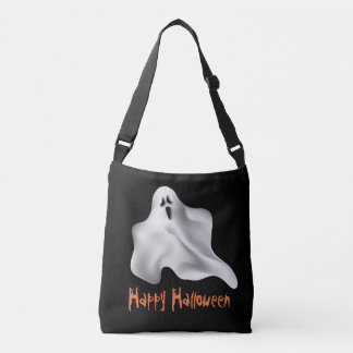 Halloween Tote/Candy Bag with Ghost and text area
