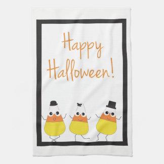 Halloween Towel | Happy Halloween with Candy Corn