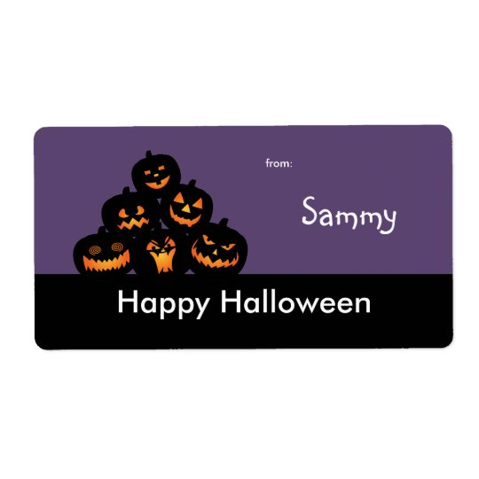 Halloween Treat Bag Label Shipping Label