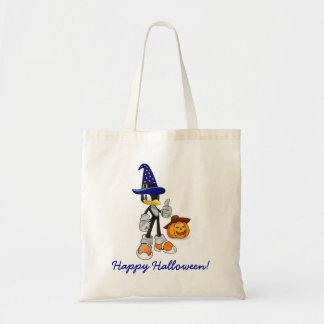 Halloween Treat Bags With Wizard Penguin