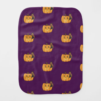 Halloween Treat Bat Burp Cloth