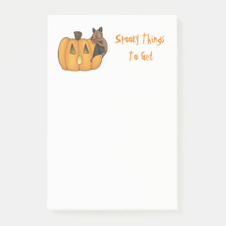 Halloween Treat Bat To Do/Buy List Post-it Notes