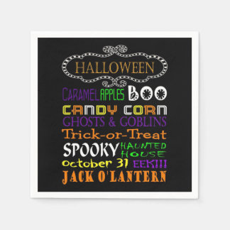 Halloween Treats And Frights Paper Napkin