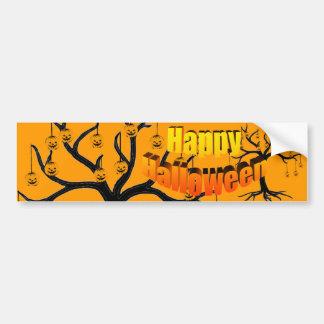 Halloween Tree Jackolanterns Bumper Sticker