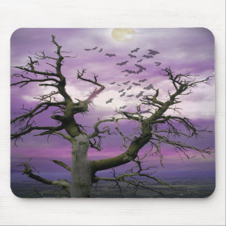 Halloween Tree Mouse Pad