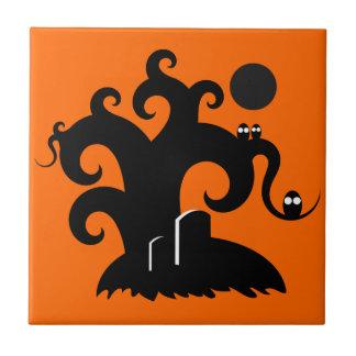 Halloween Tree Ceramic Tiles