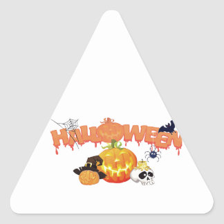 Halloween Triangle Sticker