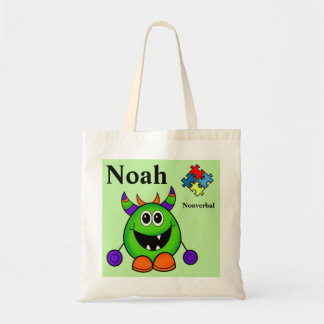 Halloween Trick or Treat Bag NAME Autism Puzzle