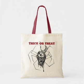 Halloween trick or treat candy bag - spider design