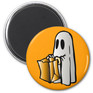 Halloween Trick or Treat Candy Ghost 6 Cm Round Magnet