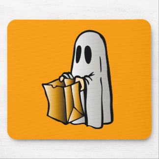 Halloween Trick or Treat Candy Ghost Mouse Pad