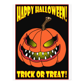 HALLOWEEN TRICK OR TREAT CARDS -1 21.5 CM X 28 CM FLYER