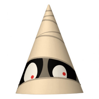 Halloween Trick or Treat Cute Mummy Squiggly Eyes Party Hat