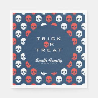 Halloween Trick or Treat Cute Skulls. Disposable Napkins