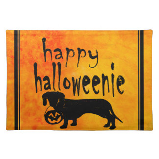 Halloween Trick or Treat Dachshund Placemat