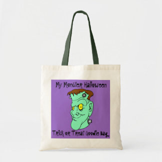 Halloween Trick Or Treat Frankenstein Smiling Tote Bag