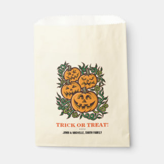 Halloween Trick or Treat Jack O' Lantern Favour Bags