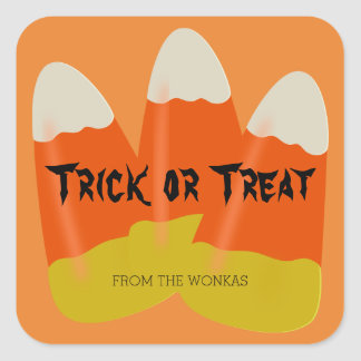 Halloween Trick or Treat Labels Candy Corn Custom