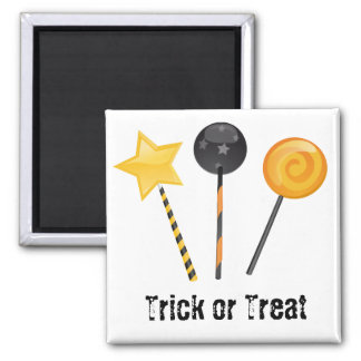 Halloween Trick or Treat Lollipops Square Magnet